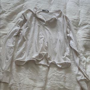 Brandy Melville white shirt with buttons
